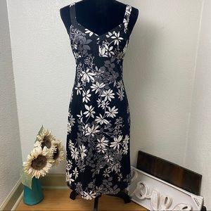 B&W Floral Dress - Size 8